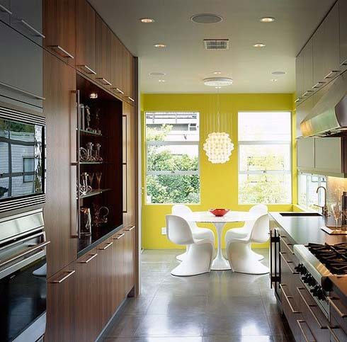Modern Dining Room Interior Design Yellow View