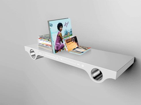 Bookshelf That can Play Music in a Cool Way : Wazz AL