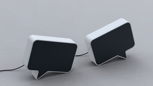 Speak Bubble Shaped Speakers