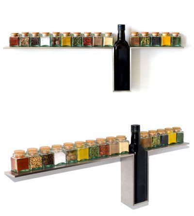 Stylish Wall-mounted Spice Rack for Your Kitchen
