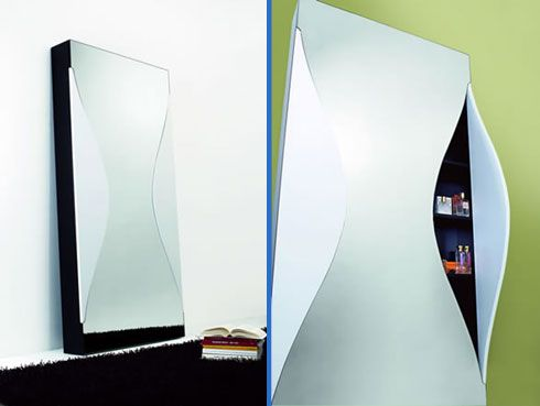Wall Mirror with Storage Space Integrated