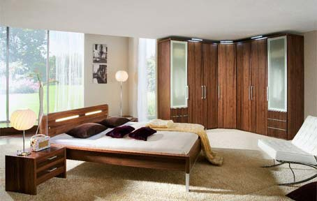 wood bedroom