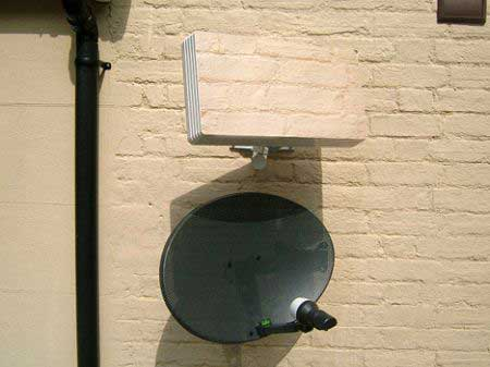 Satellite Dish that Blends in with your Brickwork