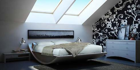 Bed with a Curved Structure – Emiselene by Mazzali