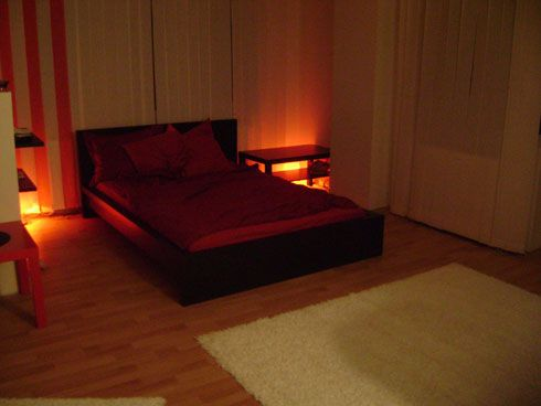 red light bedroom