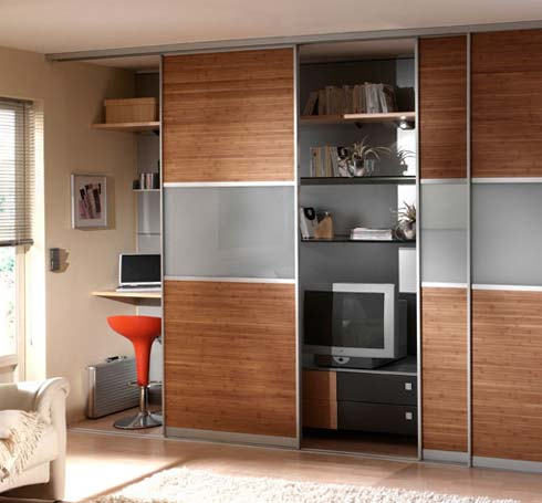 Sliding Bamboo Closet Doors from Moso Bambo