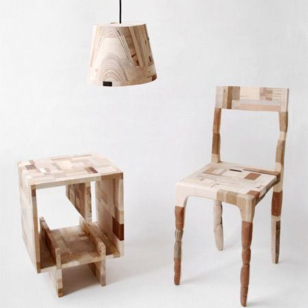 amy hunting collection Patchwork Furniture from Recycled Wood  Waste