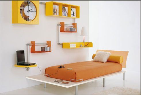 bright orange bedroom Colorful Bedroom Decorating Ideas and Pictures for Kids
