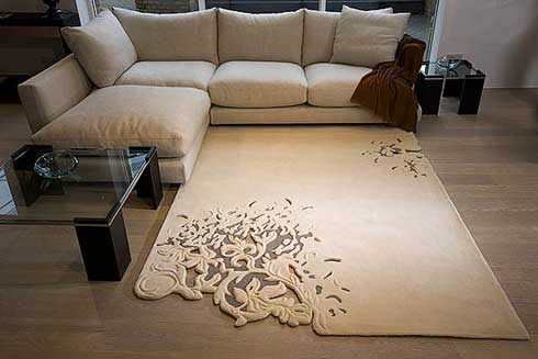 Organic Floral Pattern Rug : Ethereal