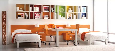 orange bedroom Colorful Bedroom Decorating Ideas and Pictures for  Kids