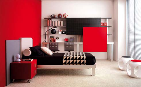 red bedroom Colorful Bedroom Decorating Ideas and Pictures for  Kids