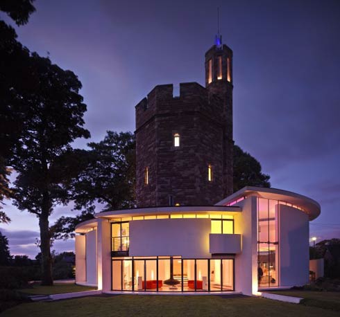 tower house 1 Contemporary Family Home That Looks Like a Castle :  Lymm Water Tower House