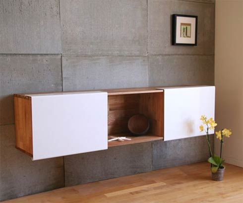 LAX Wall Mounted Shelf, Sleek with Clean Lines