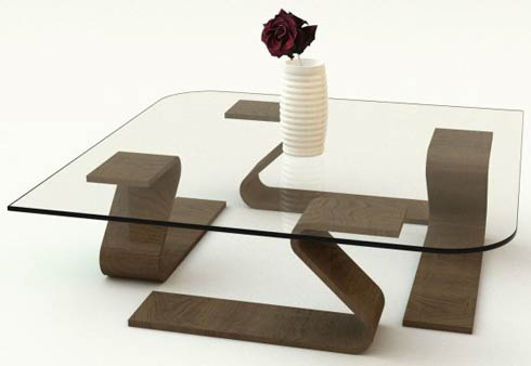 adifainer table Minimalistic Glass Tables by Adi Fainer