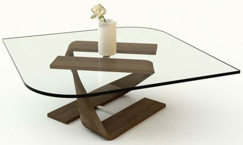 adifainer table2 Minimalistic Glass Tables by Adi Fainer