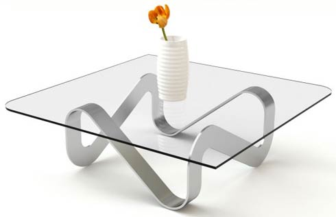 adifainer table3 Minimalistic Glass Tables by Adi Fainer