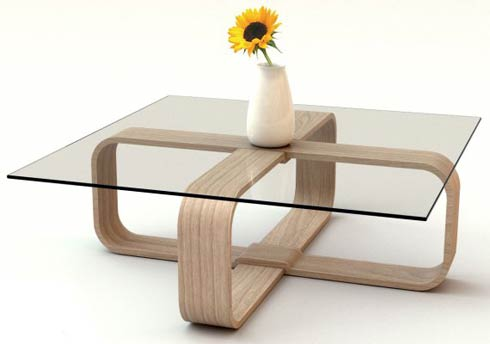 adifainer table5 Minimalistic Glass Tables by Adi Fainer