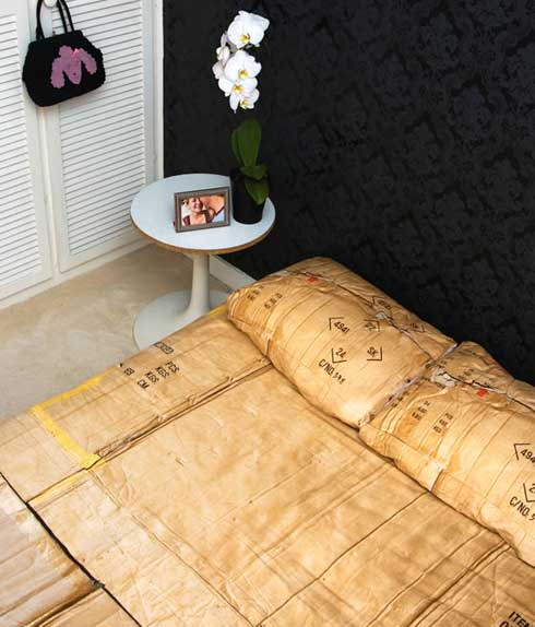 Duvet Covers Inspired by a Homeless Cardboard Box