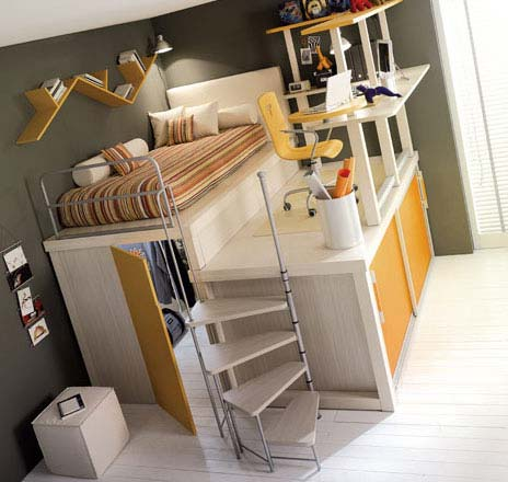 children bedrooms8 Bedroom Ideas for Kids : Tiramolla Loft Bedrooms from Tumidei