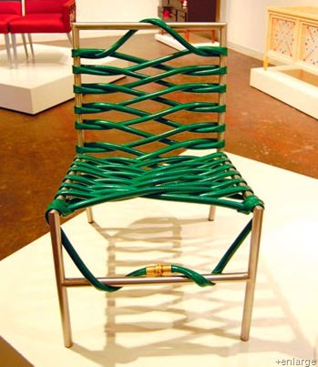 Recycled Garden Hose Furniture