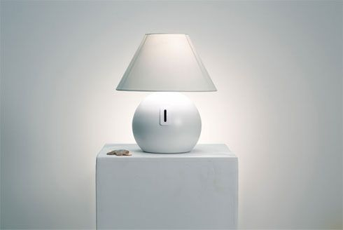 coin lamp Coin Lamp : subtly heightens awareness of consumption   through design