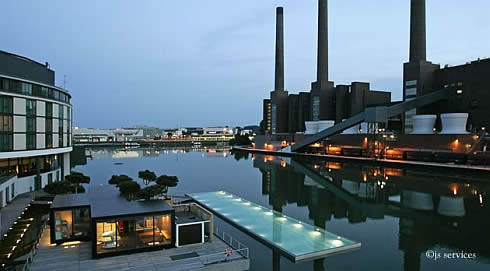 Floating Gym and Spa in Wolfsburg, Germany