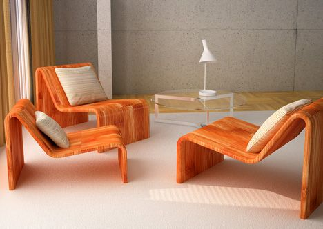 mebel Stackable Chairs by Daniel Milchtein Peltsverger