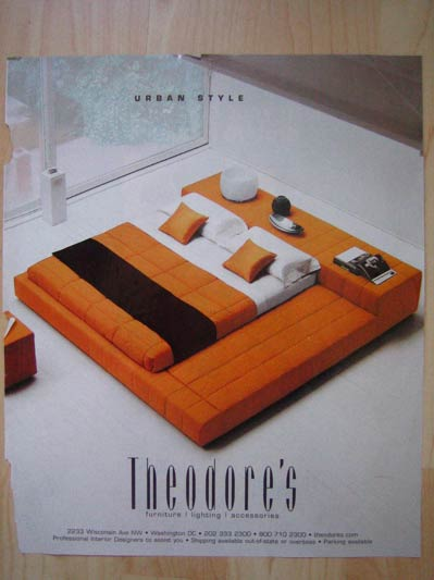 orange theodores Building a Bed Starting from a Picture Saw in a  Magazine Ad
