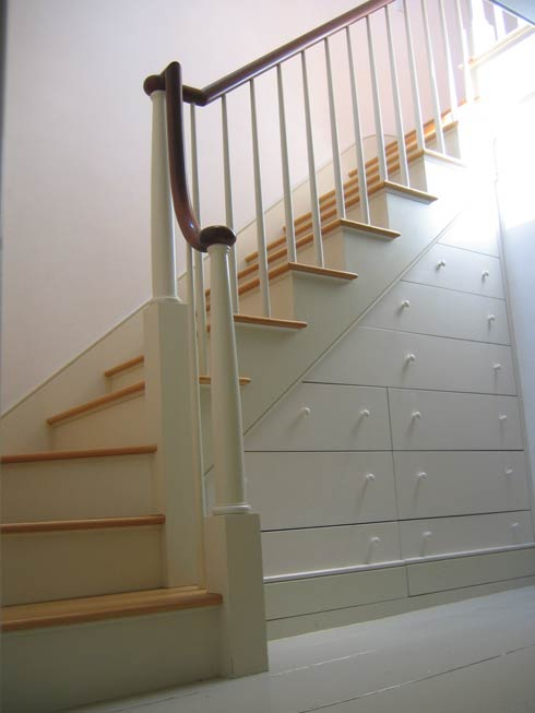 penthouse stairs Beautiful and Practical Under Stair Drawer  System