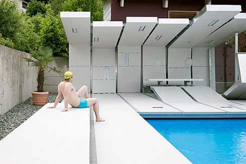 Private Swimming Pool with Amazing Design by Heri&Salli