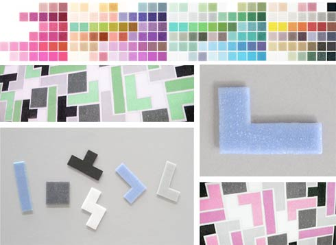 tetristiles1 Tetris Tiles : Inspired by the Worlds Most Popular  Game