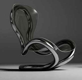 Infinity Steel Furniture and Lamp