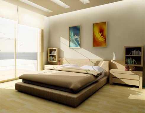 Minimalist Bedroom Interior Decorating:: Top Home Pic