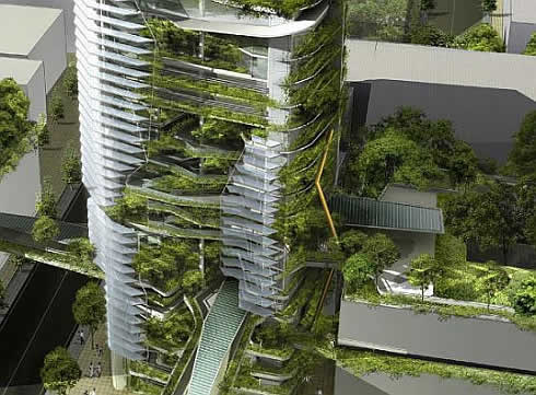 editt tower singapore 1 EDITT Tower   Singapore Goes Eco Friendly