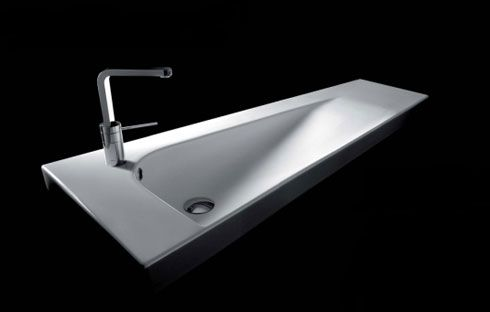 Beautiful Modern Bathroom Design : Grandangolo Sink from Hatria