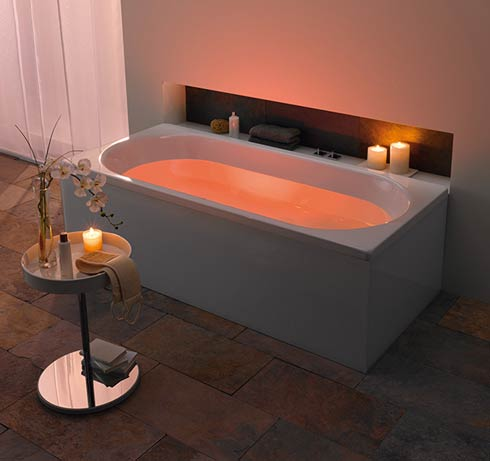 Perfect Bathroom Designs Chandelier Romantic Bathroom With Mood Lighting