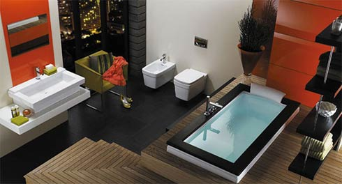 Modern Bathroom Idea Jacuzzi Aura Bath