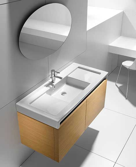roca vanity stratum Wooden Bathroom Vanity for a Contemporary Bathroom Interior