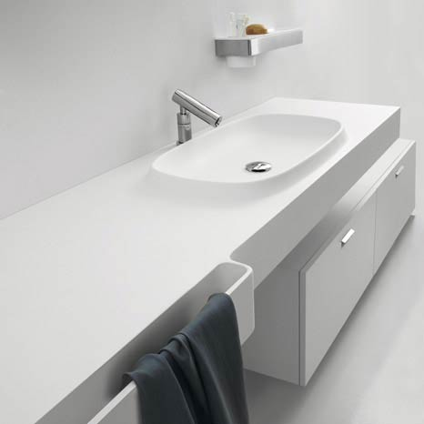 white sink Minimalist Bathroom Interior Design by Agapedesign