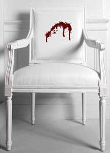 Dining room blood splatter decor designed by Amy Lau2
