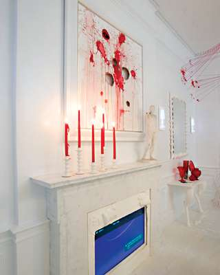 Dining room blood splatter decor designed by Amy Lau4