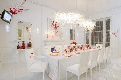 Dining room blood splatter decor designed by Amy Lau3