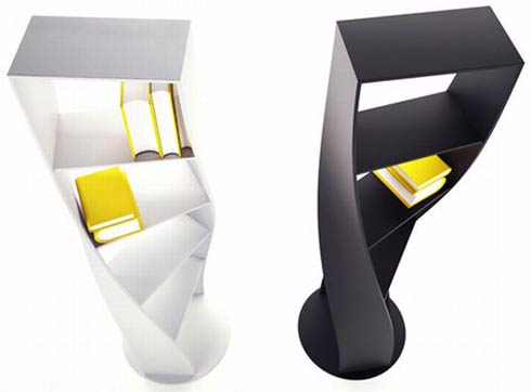 Bookcase Inspired by the DNA by Joel Escalona