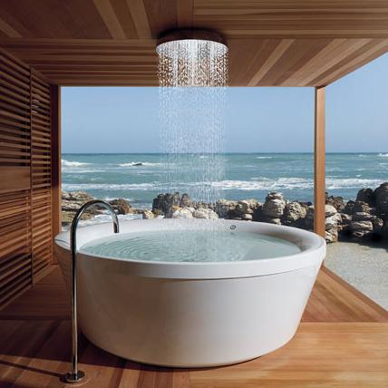 outdoor bathtub Experience a Rain Like Experience Shower