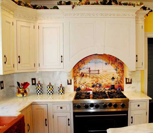 Pictures of Backsplashes White Marble Backsplash Color