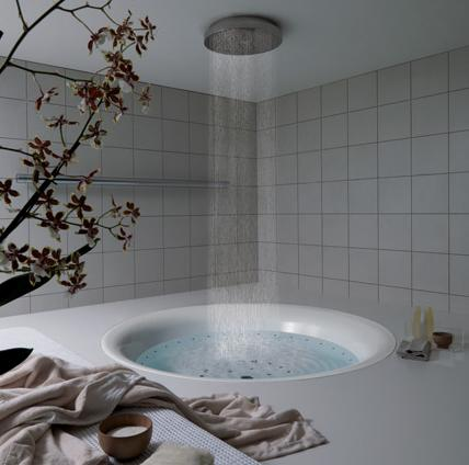 Beautiful bathroom and bedroom interior design pictures Rain Shower Bathtub Bathroom Design