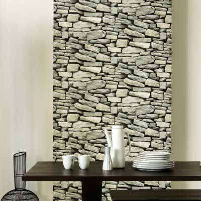 Wallpaper that Looks like a Stone Wall