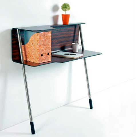 wallflowerdesk11 Small Space Office Table by Jonas & Jonas