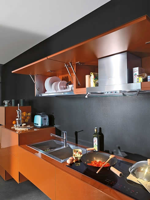 36e8 kitchen 4 Kitchen 36E8: Futuristic Italian kitchen with Retro Shades