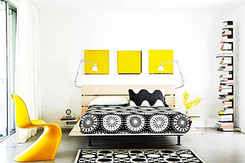 interior 2031 Inspirational Interior Design of the Day : Black, White and Yellow